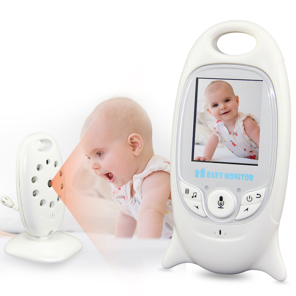 HATOSTEPED New Wireless Baby Monitor 2 inch Electronic Babysitter Radio Video Nanny Camera Night Vision Temperature Monitor