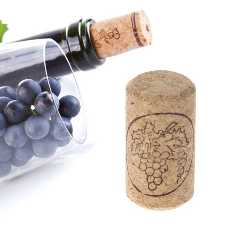 1 Pc Natuurlijke Hout Flessenstop Rechte Wijn Kurk Quick Gedaan Afdichting Plug