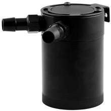 VODOOL Car Compact Baffled 2-Port Aluminum Oil Catch Can Reservoir Tank Fuel Parts Two hole breathable Kettle