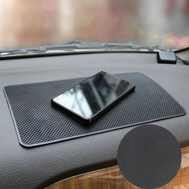 1PC שחור אוטומטי רכב אנטי סליפ לוח מחוונים דביק שטיח Pad ללא מחזיק טלפונים סלולריים GPS רכב פנים כלי אוטומטי חלק