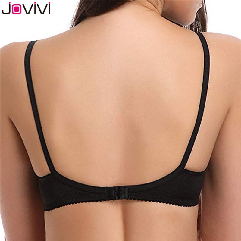 Jovivi Latest 1pc Women's Sexy Lace Bra Mesh Delicate Underwire Unlined Demi Bra 1/2 Cup Black / White / Beige / Neon Pink Bra