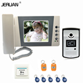 JERUAN Home 4.3`` TFT  LCD Color Video Door Phone Bell Intercom System Kit with700TVL RFID Weatherproof  Camera FREE SHIPPING