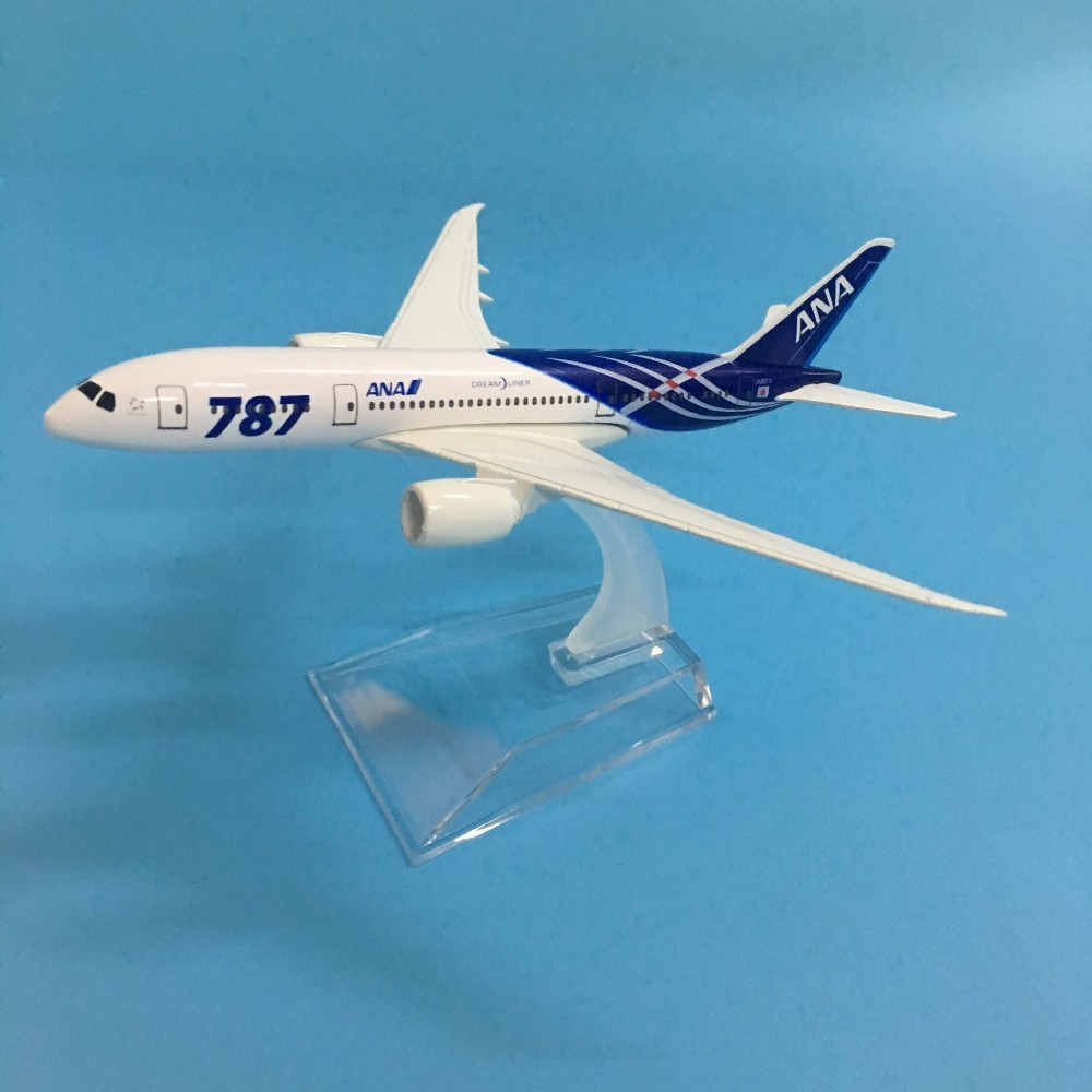 16CM ALLOY METAL JAPAN AIR ANA AIRLINES BOEING 787 B787 JA8961 AIRWAYS AIRPLANE MODEL PLANE MODEL W STAND AIRCRAFT GIFT TOYS