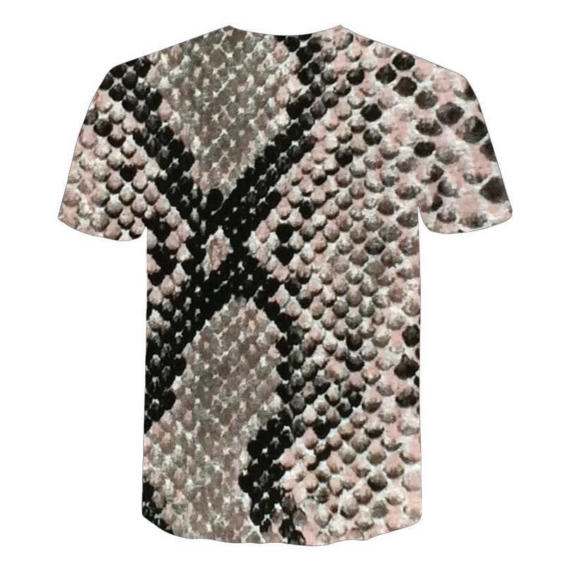 BIANYILONG/Новинка 2019 года, Милая футболка, черная футболка с принтом змеиной кожи, черно-белая футболка унисекс