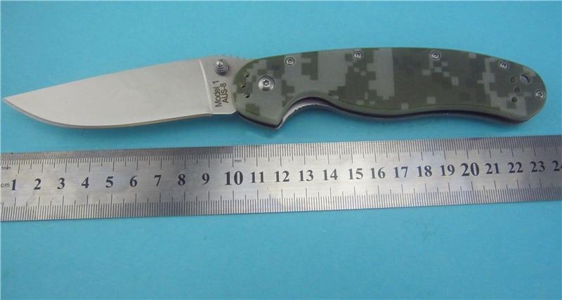 JUFULE Taiwan OEM Ontario RAT Model 1 AUS 8 steel Blade G10 Handle Camping font b