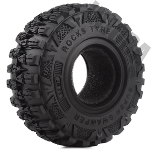 """Image 3 - INJORA 4PCS 2.2 """"Schlamm Grappler Gummi Reifen 2,2 Rad Reifen 120*48MM für 1:10 RC Rock crawler Traxxas TRX4 TRX 6 Axial SCX10 90046"""
