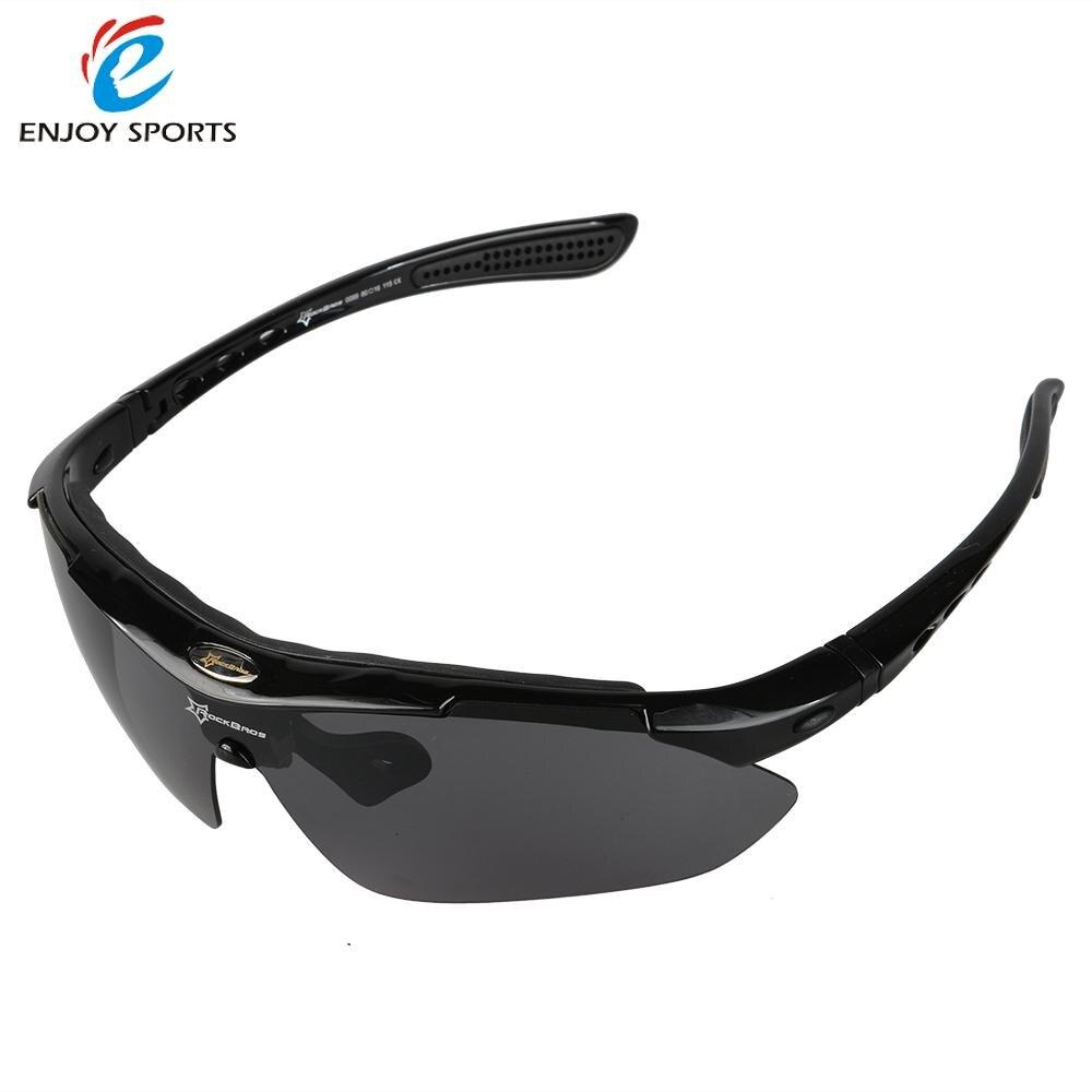 Prix pour 5 Lentilles ROCKBROS Vélo Lunettes 100% UV Blocage Polarisée Cyclisme Randonnée Escalade lunettes de Soleil Lunettes Lunettes de Soleil Goggle