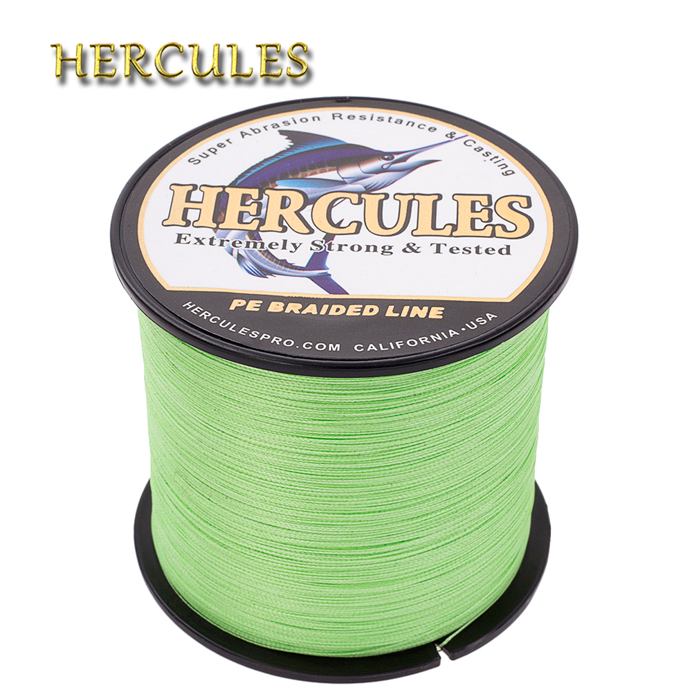 Hercules Braided Line For Carp Fishing 100M 300M 500M 1000M 1500M 2000M Peche Multifilament 4 Strands PE 6-100LB Pesca Fishing