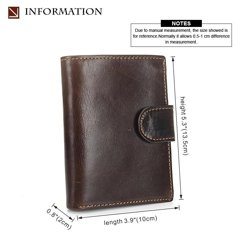 MISFITS Vintage Men Wallet Genuine Leather Short Wallets Male Multifunctional Cowhide Male Purse Coin Pocket Photo Card Holder