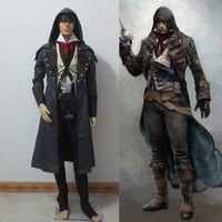 Children's Boys kids Halloween Costume Anime Assassin's Creed Cosplay Costume Assassins Creed Arno Costume clothes sets