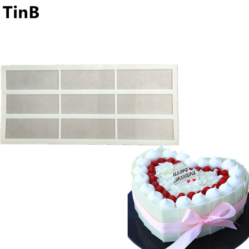 Hot DIY 3D Rectangle Silicone Chocolate Mold Bakeware Birthday Cake Cookie Decorating Tools Chocolate Mould Stencil Muffin Pan