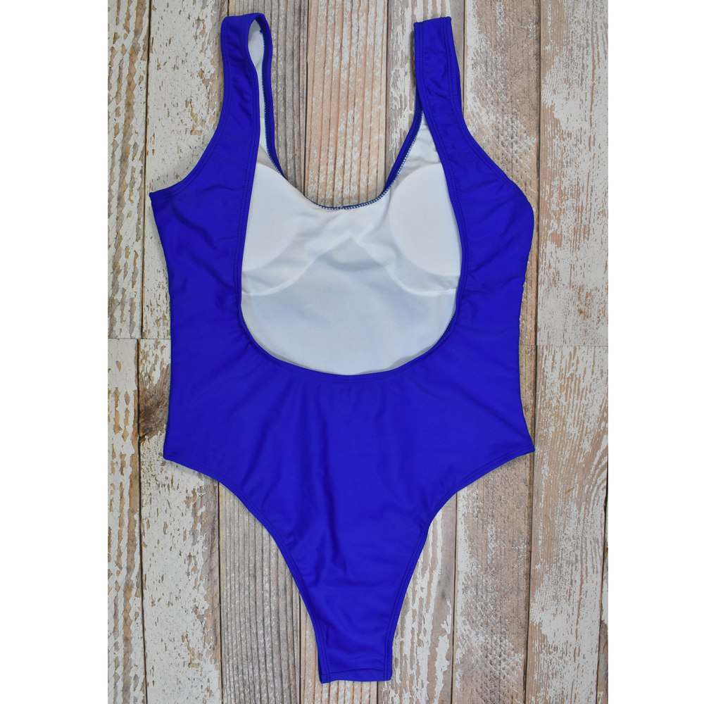 5166095a35 Hibkn one piece swimsuit solid XL bathing suit women low cut monokini white  baths one piece may women beach Swimwear Female -in Body Suits from Sports  ...
