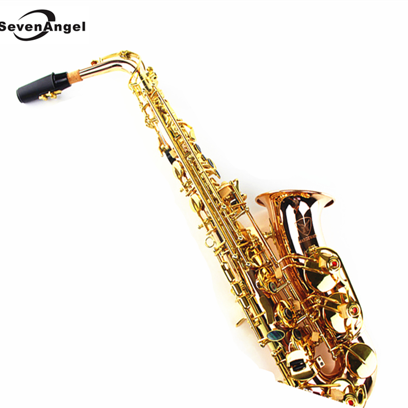 Saxophone alto Eb phosphor bronze copper Wind Instrument Sax Western Instruments saxofone alto Professional Musical Instrument alto saxophone 54 eb flat alto sax top musical instrument sax wear resistant black nickel plated gold process sax