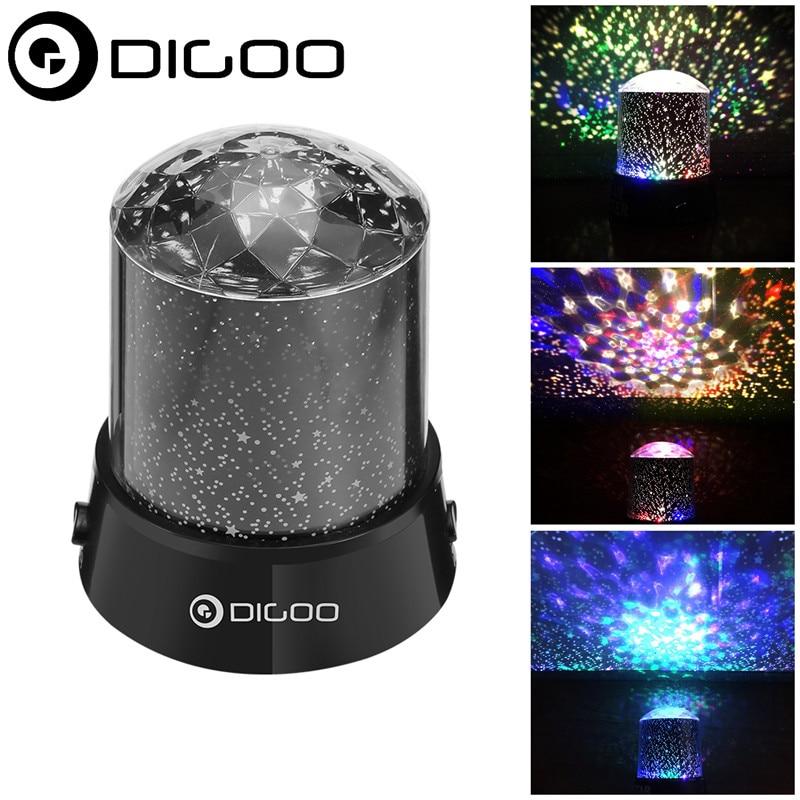 Colorful Light Digoo DG-SNL Smart Home Amazing Night Light Kids Sky Star Cosmos Colorful Laser Projector Lamp Night Light Black dg home диван box light