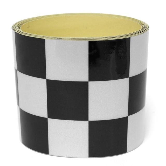 CNSPEED 275*7.6cm Decal Tape Black White Checkered Vehicle Sticker Vinyl Wrap For Car