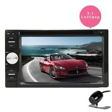 Car Stereo Android 5.1.1 Double Din In Dash Navigation DVD Video Vehicle GPS AM/FM Radio Bluetooth Headunit WiFi+Rear Camera