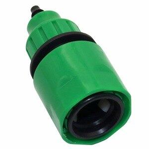"""Image 5 - 2 adet hızlı bağlantı adaptörü damla şeridi için sulama hortumu konnektörü ile 1/4 """"dikenli konnektör bahçe sulama bahçe aletleri"""