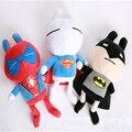 Прохладный Детские Плюшевые Игрушки 3 шт./лот 20 см Человек-Паук Супермен Бэтмен Softed Чучела Плюшевые Куклы Мальчики Девочки Друзей Подарок