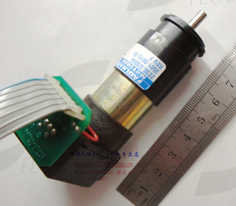 ФОТО second hand Used Robot accessories Faulhaber gear motor with dual encoder 2230 12V220 motor rotation
