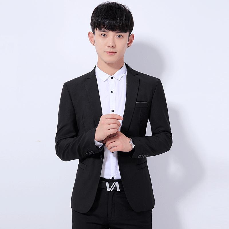 2018 Spring And Summer New Gentleman Suit Mens Business Casual Fashion Temperament British Style Slim Professional Wear