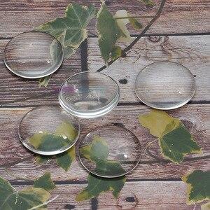 Прозрачное круглое увеличительное стекло с купольным стеклом, диаметр-20 мм (толщина 5,8 мм), для вставок, настроек подвесного лотка, 50 шт.