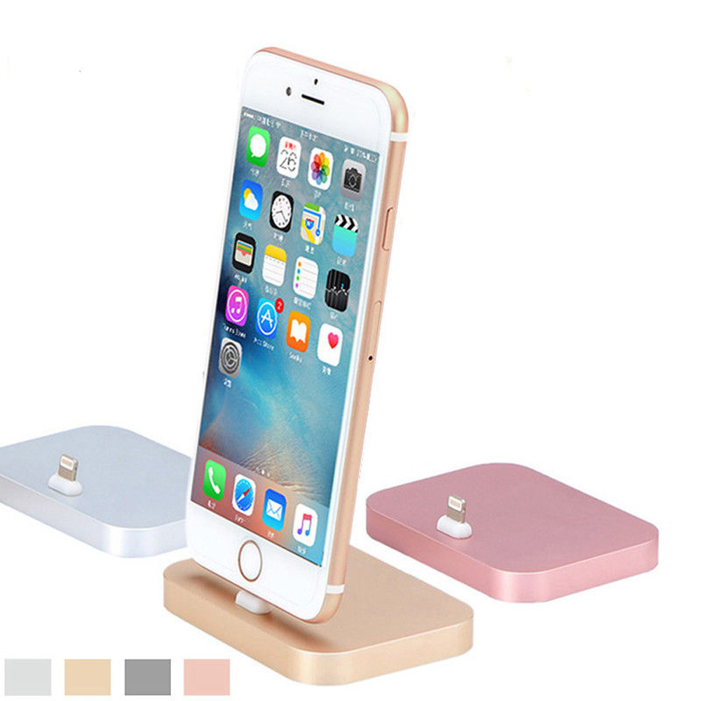 high quality metal charging base dock station cradle desktop docking charger for apple iphone 7. Black Bedroom Furniture Sets. Home Design Ideas