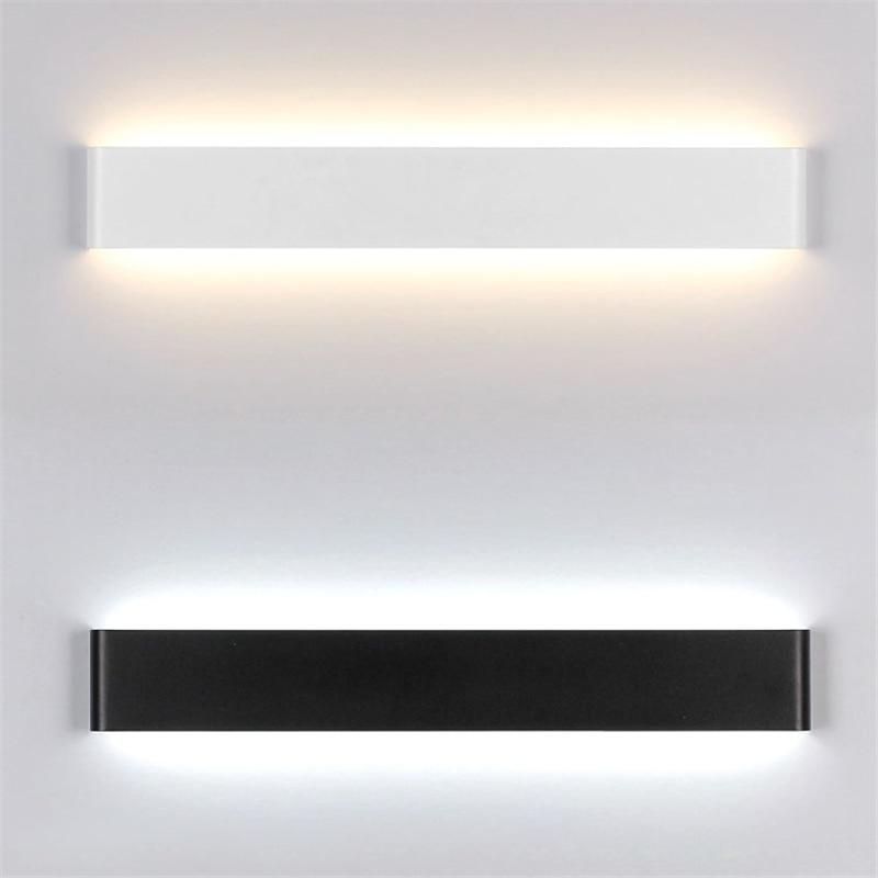 bianconero nordic acrilico dipinto metal parete lampada moderna luci del bagno led specchio da