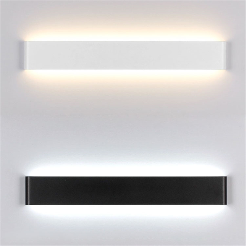 White black nordic lights acrylic painted metal wall lamp for Wohnzimmerleuchten led modern