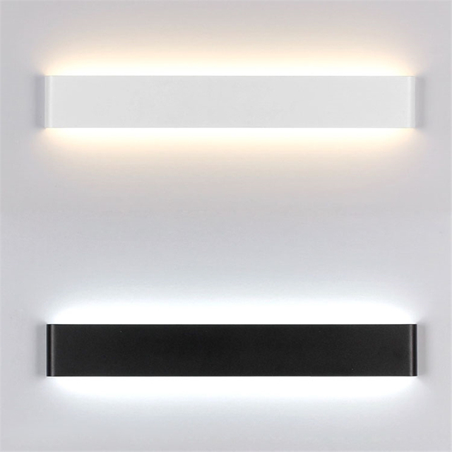 WhiteBlack Nordic Lights Acrylic Painted Metal Wall Lamp Modern Led - Kitchen and bathroom lights