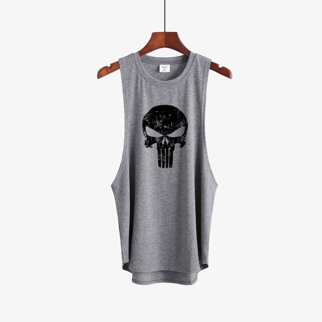 Punisher gyms clothing Brand singlet canotte bodybuilding stringer   tank     top   men fitness shirt muscle sleeveless vest Tanktop