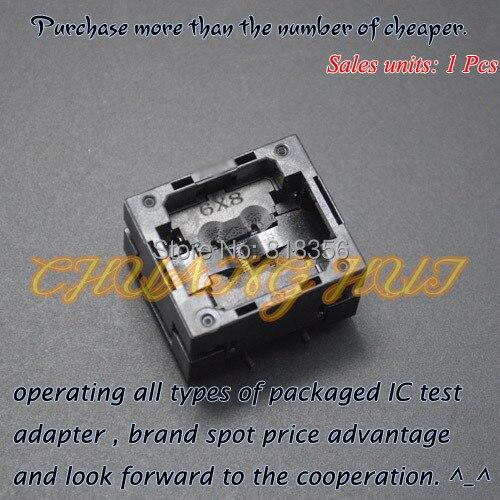 IC TEST TFBGA24 test socket BGA24 IC TEST SOCKET Pitch=1.0mm Size=6x8mm/5X5mm