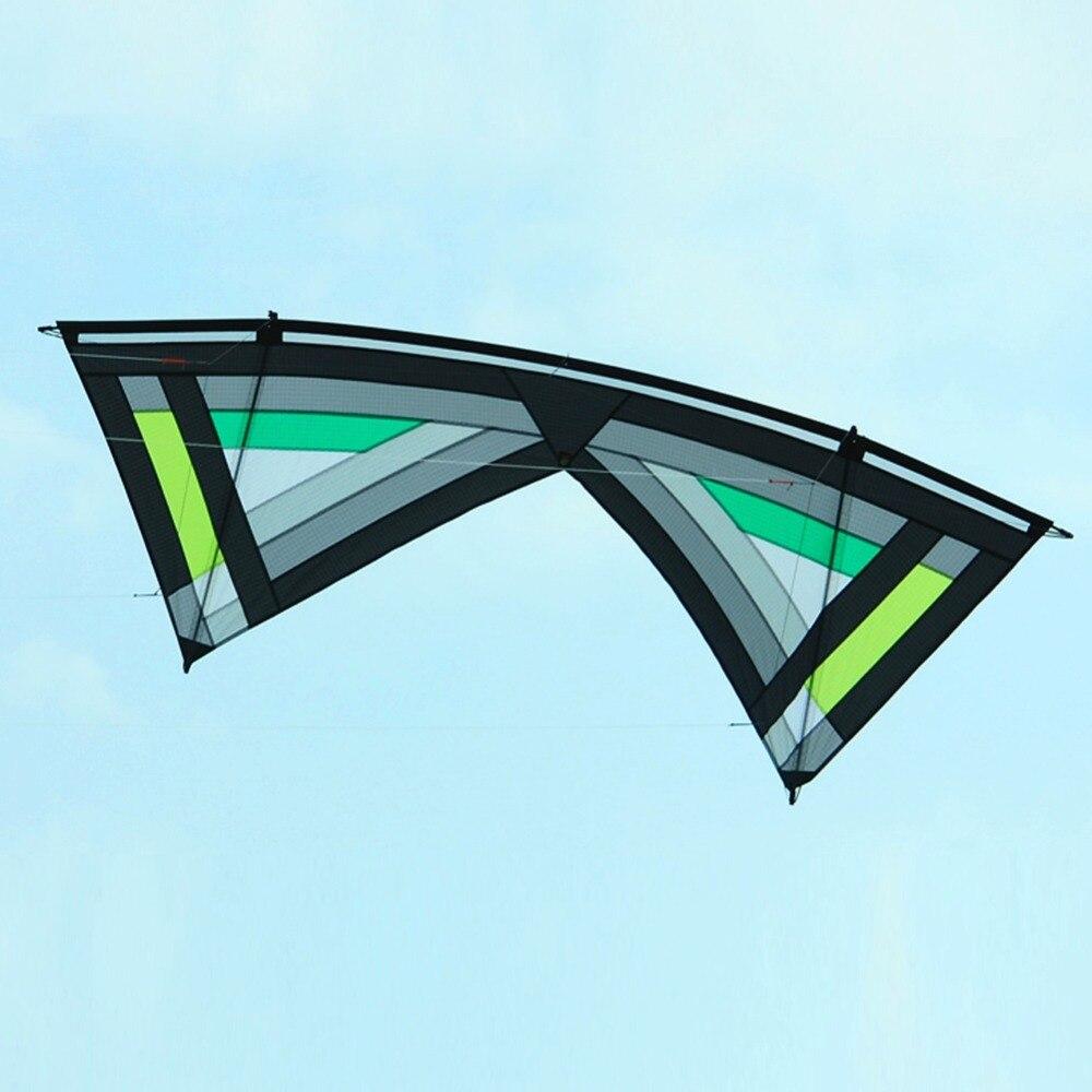 2.4 m Quad ligne cascadeur cerf-volant PC31 tissu carbone cerf-volant tige extérieur plage volant Sport cascadeur cerf-volant 4 couleurs