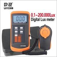 RZ Digital lux Meter 200,000 Lux Digital LCD Light Meter Measuring Tools LX1330B