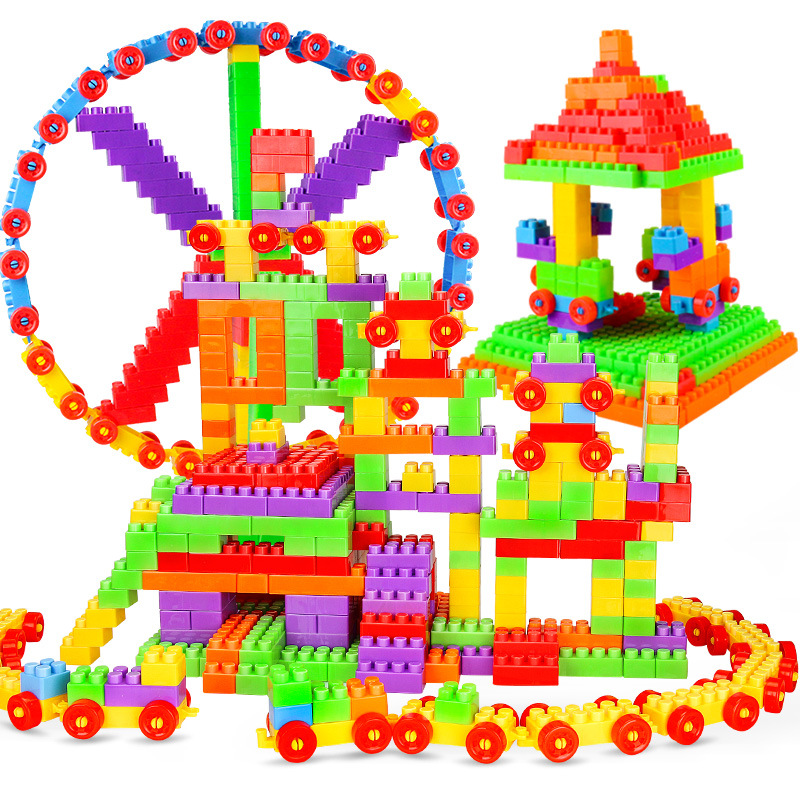 72pcs Educational Building Blocks Set DIY Assembly Big Bricks Models Figure Intellectual Development Toy For Children Kids Duplo intellectual development diy 3d pirate castle toy bricks puzzle set 358 piece