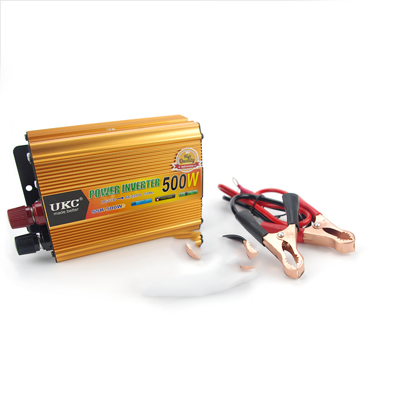 Vehicle 500W Inverter Car Power Inverter Converter DC 12V to AC 220V USB Adapter Portable Voltage Transformer Car Chargers 220v to 12v car power car inverter converter transformer car turn home 60w96w120w