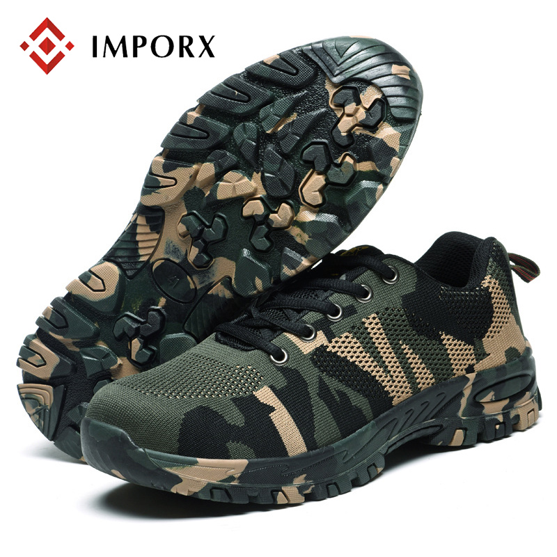 High Quality Outdoor Men Work Shoes Steel Toe Cap Military Work & Safety Boots Shoes Men Camouflage Army Puncture Proof Boots zyyzym men work safety shoes steel toe cap casual shoes men non slip puncture outdoor boots