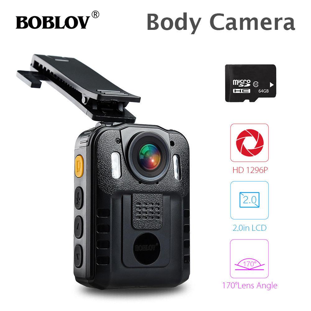 "BOBLOV WN9 2,0 ""ЖК дисплей HD 1296 P видео мини Камера Новатэк 96650 64 ГБ  Ночное видение носить тела Камера 2600 мАч Батарея полиции HD Камера купить  на ..."