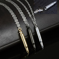 Stainless Steel Cylinder Cremation Funeral Jewelry Bullet J-cam Pet Ash Urns Pendants Necklace Jewelry Openable Perfume Bottle
