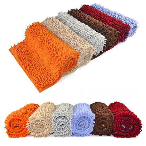Washable Bathroom New Gy Rugs Non Slip Bath Mat Thick Pile 60 40cm Free