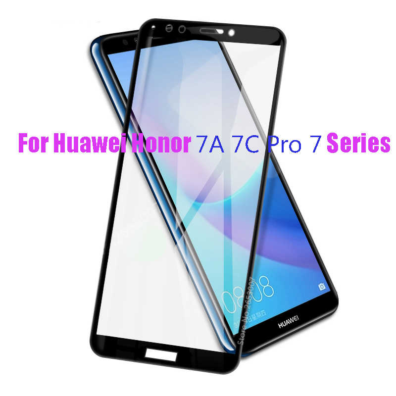 Full Cover Glass For Huawei Honor 7A Pro7C 5.45 5.7 5.99 inch Protector For Huawei Y5 Y6 Y7 Y9 prime 2018 2019 Newest Glass Film