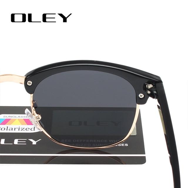 OLEY brands Unisex Classic Sunglasses men women polarized Retro Sun Glasses coating lens candy women goggles Oculos gafas Y3016 8