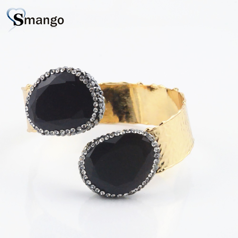2019New Arrivals Ladies Fashion Rhinestones Adjustable Bangles 3pieces Can mix colors in Bangles from Jewelry Accessories