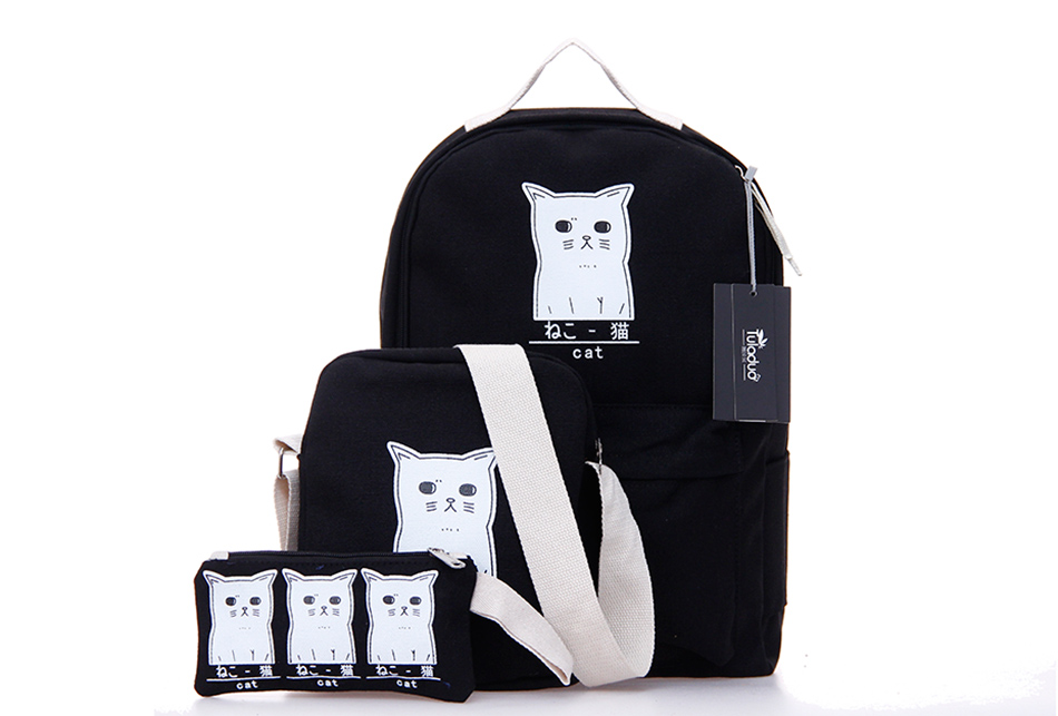 Back To School Cat Backpack Set