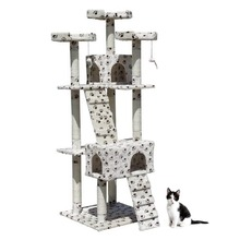 Newest Modern Cat Climbing Tree Animal Puppies Multi Layer Cat Activity Centre Beige Yellow Printed Climbing Tree Home Furniture-in Furniture & Scratchers from Home & Garden on Aliexpress.com | Alibaba Group