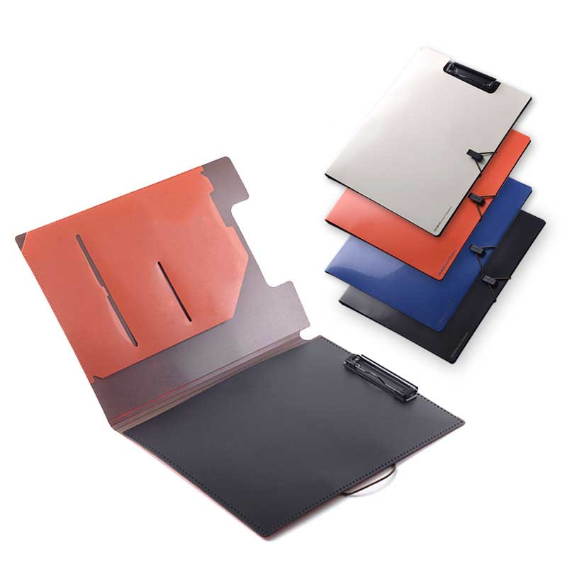 1pc A4 Plastic Padfolio Portfolio Bandage Closure Doent Organizer Business Card Pouch Pen Slot Resume Folder Clipboard Holder