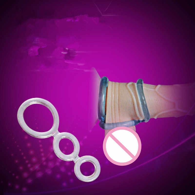 Silicone Macio Frisado Tempo Retardar A Ejaculação Anel Peniano Anel de Pénis ereção sex toys Para Homens Adulto produto