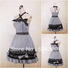 V-1134 Schwarz kurzhülse baumwolle Süße Schule Lolita Kleid/viktorianischen kleid Cocktailkleid/halloween-kostüm US6-26