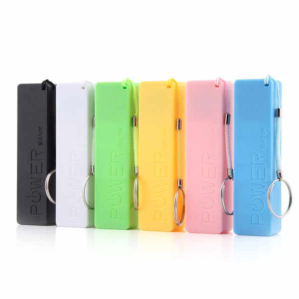 New Portable Mobile Power Bank USB 18650 Battery Charger Key Chain for iPhone MP3 (No Battery) Drop Shipping