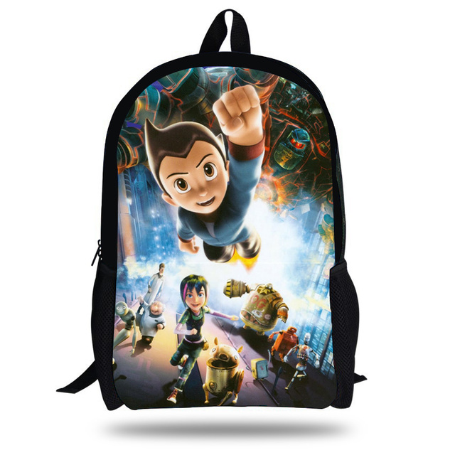 54e817d405 16-inch Mochila Astro Boy Backpack Kids Boys Cartoon Astro Boy School Bag  Children Bolsa Infantil Menino Age 7-13