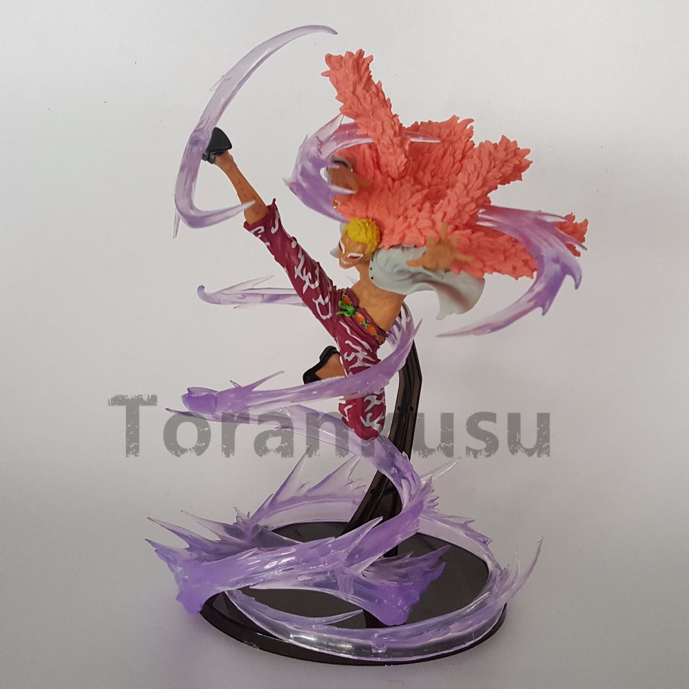 One Piece Action Figure Doflamingo With Effect Model Toy 150mm One Piece Anime Doflamingo PVC Toys Doll Gift anime one piece arrogance garp model pvc action figure classic collection garage kit toy doll